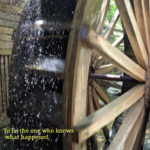 close up of working waterwheel